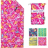 Microfiber Beach Towels for Travel - Quick Dry Super Absorbent Lightweight Compact Towel for Swimmers, Sand Free Towel, Beach