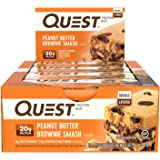 Quest Peanut Butter Brownie Smash Protein Nutrition Quest Bar, 60 grams (Pack of 12)