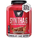 BSN SYNTHA-6 Whey Protein Powder, Micellar Casein, Milk Protein Isolate Powder, Chocolate Cake Batter, 48 Servings (Package M