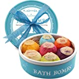 Aofmee Bath Bombs, Lush Fizzies Spa Kit Perfect for Moisturizing Skin, Birthday Valentines Mothers Day Anniversary Christmas