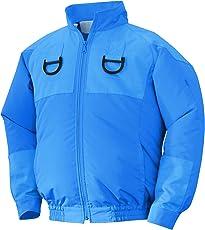 NSP 空調服フルハーネス用 服単体 チタンコーティング 立ち襟 ブルー 2L 8208502