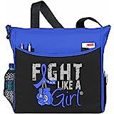 Fight Like a Girl Boxing Glove Tote Bag Dakota (Blue)