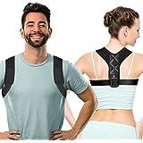 Aussiefascino Posture Corrector for Men and Women - Back Brace for Clavicle Support - Relives Neck & Shoulder Pain - Adjustab