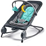 Summer 2-in-1 Bouncer & Rocker Duo - Baby Bouncer & Baby Rocker with Soothing Vibrations, Removable Toys & Compact Fold for S