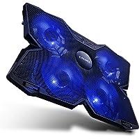 E-PRANCE ノートパソコン 冷却パッド 冷却台 ノートPCクーラー クール 駆動静音 USBポート2口 LED搭載…