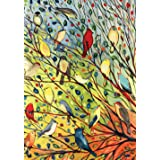 "Toland Home Garden 119537 Tree Birds Flag, Garden (12.5"" x 18"")"