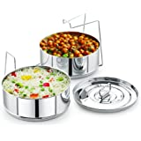 Stackable Stainless Steel Insert Pans - 6QT- Inserts for Instant Pot - Pan for Instapot - Accessories for Instant Pot- FITS 6