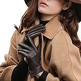 【GSG】レザーグローブ レディース 革手袋 スマホ タッチパネル対応 皮 冬 暖かい 防寒 運転 バイク 車 ドライビンググローブ ドライバー ドライブ 女性用 婦人 プレゼント ギフトにもお勧め 200116
