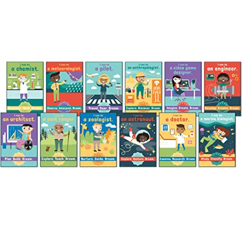 110383 Carson Dellosa STEAM Careers Bulletin Board Set