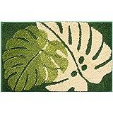 Hi Space Microfiber Tropical Leaf Bath Rug Soft Non Slip Kids Bath Mats Carpets for Bathroom Tub Shower Plant Leaves Pattern