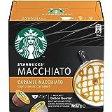 STARBUCKS by NESCAFÉ DOLCE GUSTO Caramel Macchiato Coffee Capsules Box of 6 Servings