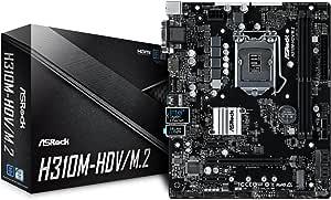 ASRock Intel H310チップセット搭載 Micro ATXマザーボード H310M-HDV/M.2