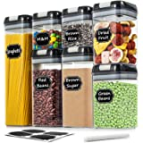 Airtight Food Storage Containers - Wildone Cereal & Dry Food Storage Containers Set of 7 with Easy Locking Lids, for Kitchen
