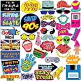 Throwback 90's Photo Booth Prop Set - Funny 1990's Theme Party Decoration, Favors & Supplies