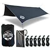 Hammock Tarp By The Outdoors Way. 12' Quality Rain Fly For Extreme Waterproof Protection Large Canopy Is Portable And Provide