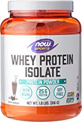 Now Foods Whey Protein Isolate, Dutch Chocolate, 816g