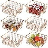 Wire Basket, Cambond 6 Pack Wire Baskets for Storage Durable Metal Basket Pantry Organizer Storage Bin Baskets for Kitchen Ca