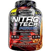 Muscletech, Nitro Tech Power、究極の筋肉増強プロテイン、トリプルチョコレートシュプリーム味…