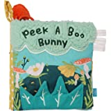 Manhattan Toy Fairytale Peek-a-Boo Soft Activity Crinkle Book for Baby & Toddler with Tethered Bunny Squeaker