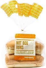 Swissbake Fresh Hot Dog Buns, 75g (Pack of 4)