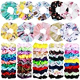 70 Pack Hair Scrunchies Hair Ties Elastic Hair Bands Scrunchy Hair Accessories for Women or Girls - 10 Solid Colored Chiffon,
