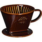 カリタ Kalita コーヒー ドリッパー 陶器製 102-ロト(2~4人用) ブラウン #02003