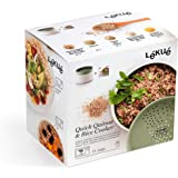 Lekue Microwave Rice, Grain & Quinoa Cooker, Green, One Size, 0200700V17M017