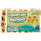 """Educational Insights 1471 Alphabet Rubber Stamps Lowercase, 5/8"""",5/8 in,Yellow"""