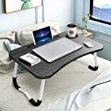 KPX Recliner Lap Bed Table Stand, Portable Computer Desk, Foldable Laptop with Cup Slot & Notebook Holder Large Breakfast Bed