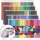色鉛筆 160色 油性色鉛筆 アート鉛筆 塗り絵 描き用 塗り絵本4本付き