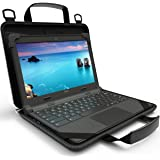 UZBL 12-14 inch EVA Always On Work-in Protective Laptop Sleeve and Case with Carrying Handle for Chromebooks, Designed for St