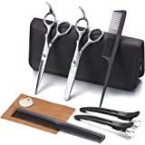 Hair Cutting Scissors Kit, Aethland Professional Barber Hairdressing Scissors Set ( Trimming Shaping Grooming Thinning Shears
