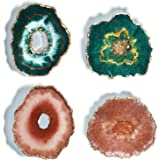 LET'S RESIN Resin Coaster Molds with 4PCS Druzy Geode Silicone Molds, Hollow Agate Coaster Epoxy Molds,Silicone Resin Molds f
