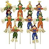 EBaokuup 10 PCS Halloween Scarecrow Decoration - Small Fall Harvest Scarecrow Fall Harvest Standing Scarecrow Decor for Autum