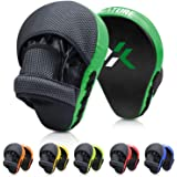 Xnature Essential Curved Boxing MMA Punching Mitts Boxing Pads w/Gift Box Hook & Jab Pads MMA Target Focus Punching Mitts Tha