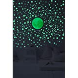 Glow In The Dark Wall Decals - 3D Stars And DotsBonus Moon. Stickers For Home Decor Set of 328 3D Self Adhesive Wall Stickers