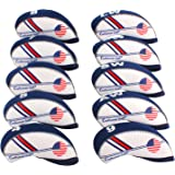 Craftsman Golf US Flag Neoprene Golf Club Head Cover Wedge Iron Protective Headcover for Callaway, Ping, Taylormade, Cobra, E
