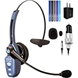 VXi BlueParrott B250-XTS Bluetooth Headset with AC Power Supply - Includes - MobileSpec 12V Replacement Car Charger