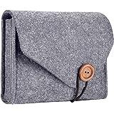 ProCase MacBook Power Adapter Case Storage Bag, Felt Portable Electronics Accessories Organizer Pouch for MacBook Pro Air Lap