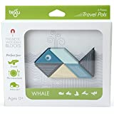 Tegu Travel Pal Magnetic Wooden Block Set, Whale, 6 Piece
