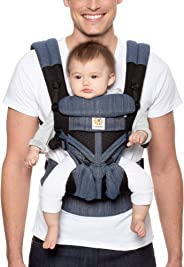 Ergobaby Ergobaby Carrier, Omni 360 All Carry Positions Baby Carrier with Cool Air Mesh, Indigo Weave
