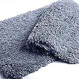 FIFU Bathroom Rugs Non Slip Soft Microfiber Durable Thick Shaggy Bath Rugs Mat for Bathroom, Ultra Water Absorbent, Machine W