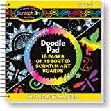 Melissa & Doug 5947 Scratch Art Doodle Pad with 16 Scratch-Art Boards and Wooden Stylus