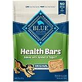 Blue Buffalo Health Bars Natural Crunchy Dog Treats Biscuits, Apple & Yogurt 16-oz Bag