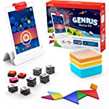Osmo - Genius Starter Kit for iPad - 5 Hands-On Learning Games - Ages 6-10 - Math, Spelling, Problem Solving, Creativity & Mo