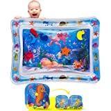 JOLI Inflatable Tummy Time Water Mat with a BONUS BABY BATH BOOK Infants and Toddlers Sensory Playmat Babies Eco Friendly Bel