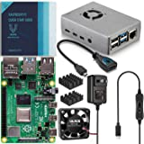 Vilros Raspberry Pi 4 Basic Starter Kit with Fan Cooled Heavy Duty Aluminum Alloy Case (8GB, Silver)
