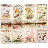 Knaid Postage Stamp Washi Tapes - 8 Pack of Decorative Stamp Stickers for Scrapbooking, Kid DIY Arts Crafts, Album, Bullet Jo