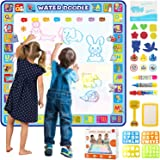 Tobeape® 100 X 100 cm Extra Large Aqua Magic Doodle Mat, Colorful Educational Water Drawing Doodling Mat Coloring Mat for Kid