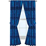 "Marvel Avengers Blue Icons 84"" Inch Drapes - Beautiful Room Décor & Easy Set Up, Bedding Features Captain America & Iron Man"